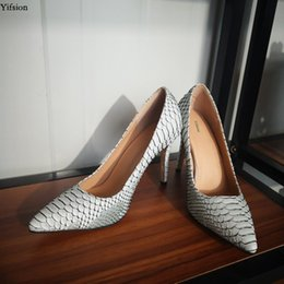 nice sexy party dress UK - Rontic Hot Women Summer Pumps Sexy Thin High Heels Shoes Nice Pointed Toe Sexy Snakeskin Party Shoes Women Plus US Size 5-15