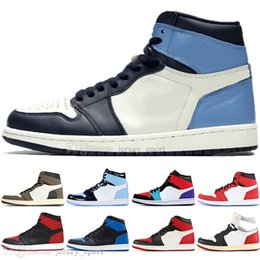 $enCountryForm.capitalKeyWord NZ - Hot 1 High OG Travis Scotts Cactus Jack UNC Spiderman Mens Basketball shoes 1s Top 3 Banned Bred Toe Chicago Men Sports Designer Sneakers