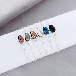 Crystal Drop Ornaments Australia - Japanese Korean Women Bracelets Water Drop Diamond Jewelry Female Bracelet Crystal Cluster CHarm Bracelets Natural Crystal Stone Ornaments