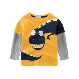 tees long winter Australia - T-Shirt Spring Boys Tops Long-Sleeve Kids Cotton Cartoon 2-8 Years Tees Children Print Toddler Summer Girls Baby Tee Dinosaur