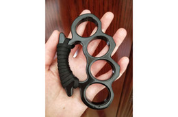 Wholesale aluminium alloy Finger Buckle Protective Gear Four Finger Ring Self-Defense Tools BrokenWindow KNUCKLE DUSTER Selfdefensesupplie