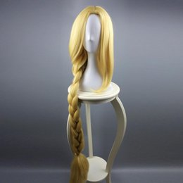 "$enCountryForm.capitalKeyWord Australia - ccessories women Tangled Princess Rapunzel Cosplay Adult Womens Long Braids Blonde 39"" Extra Long Hair Halloween Carnival Costume Accesso..."