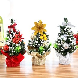 Chinese  3pcs Christmas Tree Model Ornament Bedroom Desk Decoration Toy Doll Gift Office Home Children Natale Ingrosso Christmas Decorations for Home manufacturers