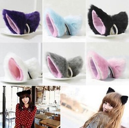 Discount japanese hair accessories - Japanese Cosplay Cat Ear Small Bell Baby Girls Headband Barrette Maid Style Hair Accessories for Women Headbands Headdre