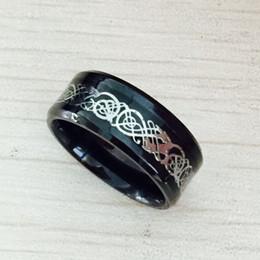 $enCountryForm.capitalKeyWord Australia - Black 316L Stainless steel Ring for Wedding Band blue Carbon Fiber Ring des Nibelungen Dragon rings for men drop shipping