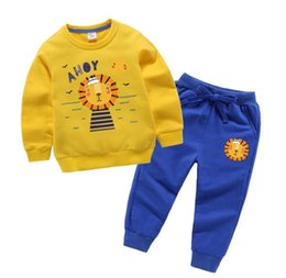 korean sweater pants Australia - New spring and autumn children's clothing Korean version of the boy's sweater Wei pants sports two-piece suit tide baby small children