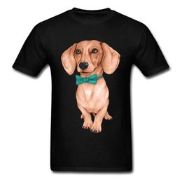 $enCountryForm.capitalKeyWord Australia - I Love My Dog Pet Animal T-shirts Men Dachshund Wiener Dog Drawing Picture Tshirt For Handsome Man Cute Teckel Cotton Tees