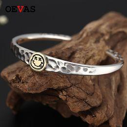$enCountryForm.capitalKeyWord Australia - Thai silver trend smiley couple bangles Fashion brand 925 Sterling silver Bangle for women S925 Jewelry men Bracelet
