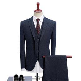 $enCountryForm.capitalKeyWord Australia - 2019 Men Suits For Wedding Slim Fit 3 Piece Mens Dress Suits Fashion Brand Male Woolen Suit Jacket Pants Vest