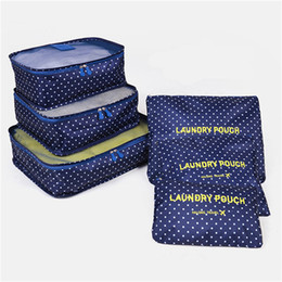 $enCountryForm.capitalKeyWord NZ - 6pcs  set Travel Storage Bag Clothes Tidy Pouch Lage Organizer Portable Container Waterproof Storage Case Wholesale