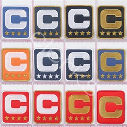 Football Jerseys For Teams NZ - Custom Team Leader Captain C Badge Embroidery Patch 1 2 3 4 Star Sewing On for Football Jersey