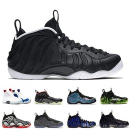 christmas tech 2020 - New Dr. Doom Penny Hardaway men basketball shoes Foam One Vandalized Tech Fleece OG Royal Black Metallic Gold mens train