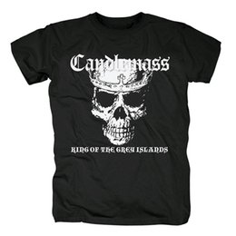 metal death 2019 - Bloodhoof Free shipping Candlemass Death Magic Doom cover men's black traditional doom metal heavy metal T-Shirt As