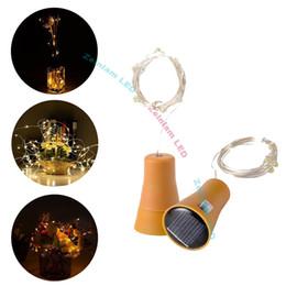 Solar strip Bottle Lights Cork Shaped Mini String Lights Wine Bottle Fairy Strip Battery Operated Starry Lights For DIY Christmas Wedding