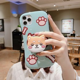 cute rabbit phone holder Australia - Mytoto Cute Cartoon Rabbit Dog Girly Phone Cases For iPhone 11 Pro XS Max X 8 7 6 6s Plus XR i8P Stand Holder Back Cover Coque Funda