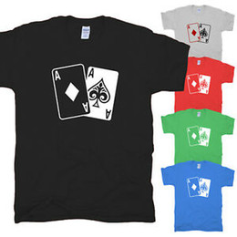 cards ace spades Australia - Poker Cards Ace Cards all in Texas Hold Em Ace Spades Game Vegas T-Shirt S-XXL