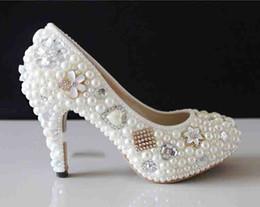 $enCountryForm.capitalKeyWord NZ - 2019 Nicest custom made handmade Pearl High Heel wedding shoes Rhinestone Crystal bridal shoes wedding shoes 35-43