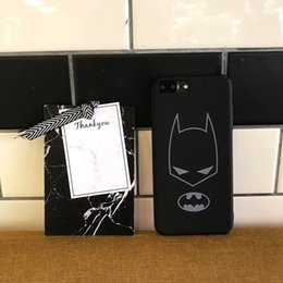 Iphone Puls Australia - YunRT Fashion Marvel Batman Iron man Phone case For iPhone 6 6 Puls 6S Puls 7 8 Puls Case Hard PC Matte Back Cover Coque Fundas Capa