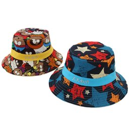 $enCountryForm.capitalKeyWord Australia - New fall 2019 flat-topped graffiti fisherman hat for children 1 to 2 year old children shading hat 4 colors 02