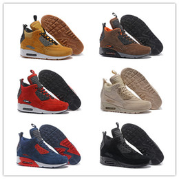 Lace materiaL boots online shopping - 2019 New Mens Winter Sneakerboot Running Shoes For Men Sneakers Pig Eight Leather Material Fashion Outdoor Sport Jogging Walking Trainers