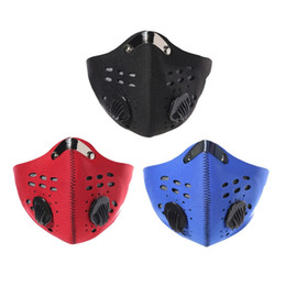 Carbon Face Masks Australia - Breathable Activated Carbon Cycling Mask Mountain Bike Road Bicycle Half Face Mask for Cycling Running Sports Mask Dustproof