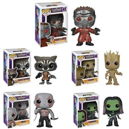 $enCountryForm.capitalKeyWord Australia - Funko pop Movies Guardians of the Galaxy 1 Star Lord Rocket Groot Action Figure with original box Great Quality