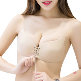$enCountryForm.capitalKeyWord Canada - Women Invisible Bra Super Push Up Seamless Self-Adhesive Sticky Wedding Party Front Strapless A B C D Cup Fly Bra