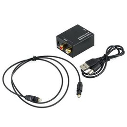 coaxial audio rca adapter NZ - Digital Adaptador Optic Coaxial RCA Toslink Signal to Analog Audio Converter Adapter Cable