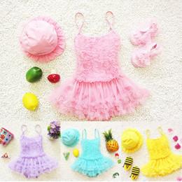$enCountryForm.capitalKeyWord Australia - High Quality Toddler Girls Princess Lace Layer Swimsuit Tutu Dress One-Pieces Swimwear 4 Colors Baby Cute Bathing Suit Beachwear G531F