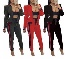 Discount ladies tracksuits - Womens Tracksuits Casual Fashion Autumn Spring Long Sleeved Two-piece Jogger Set Ladies Fall Tracksuit Sweat Suits Black