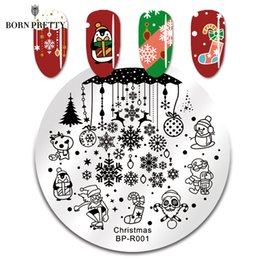 $enCountryForm.capitalKeyWord NZ - BORN PRETTY Christmas Snow Nail Stamping Plate Snowman Balls Deer Round Template Nail Art Stamp Plate