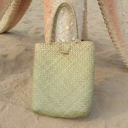 $enCountryForm.capitalKeyWord Australia - Hot sale Summer Beach Bag Rattan grass Weaved Casual Tote Shopping Handbags Women Travel Tourist Storage Bag Shoulder Bag(gree