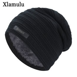 Warm Male Beanies NZ - Xlamulu New Fashion Men Winter Hats For Women Skullies Beanies Knitted Hat Warm Male Gorros Bonnet Caps Thicken Soft Beanies Hat