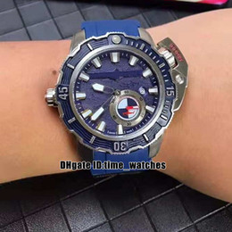 Dive Sport Watches Luxury Australia - NEW Deep Dive Hammerhead Shark 3203-500LE-3 93-HAMMER Automatic Mens watch Steel Case Blue Dial Gents Luxury sport Watches blue Rubber Strap