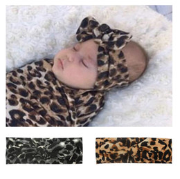 $enCountryForm.capitalKeyWord NZ - Baby Elastic Cloth Leopard-Print Rabbit Earband Headbands Hair Bow Elastics for Baby Girls Newborn Infant Toddlers Kids 2019 NEW