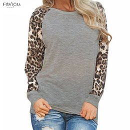 Tunic Tees online shopping - Blusas Leopard Womens Tops And Blouses Long Sleeve Blouse Patchwork Shirt Tunic Tee Femme Mujer Plus Size S Xl