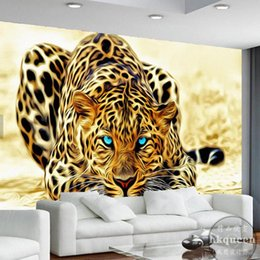$enCountryForm.capitalKeyWord Australia - Drop Shipping Leopard Animal Wall Mural Wallpapers for Living Room Home Wall Decor Mural 3d Paper Papier Peint Custom