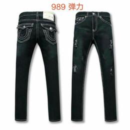 $enCountryForm.capitalKeyWord NZ - Free Shipping true High quality hot Mens Robin Rock Revival Jeans Crystal Studs Denim Pants Designers Trousers Men's size 30-40 989