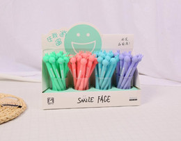 $enCountryForm.capitalKeyWord Australia - 48 pcs Gel Pens Cartoon Smiley face black colored gel-inkpens for writing Cute stationery office school supplies