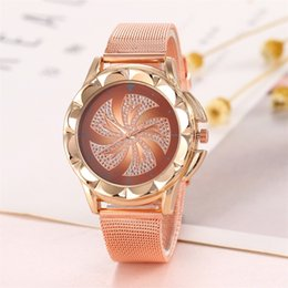 Glasses Straps NZ - women watches Fashion Quartz Glass Stainless Steel Mesh Strap Watches High Quality Clock Wristwatch Casual Ladies Watch 2019
