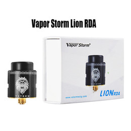 replaceable cores tank atomizer NZ - Vapor Storm Lion RDA 24mm Atomizer Internal Structure 3 Stages Airflow Control RDA Tank 510 Thread RDA Dual Core DIY Coil