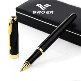 baoer pen nib UK - Business Baoer 388 Roller ball Pen Full Metal 0.5mm nib rollerball Pen Office school Student writing