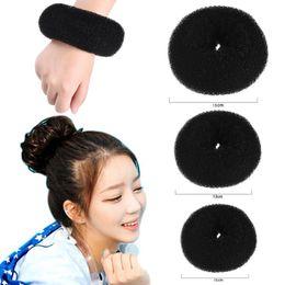 $enCountryForm.capitalKeyWord NZ - Female Hair Wrap Bun Maker Donut Styling Fold Foam Accessories For Women Curler Roller Holder Quick By K-beauty