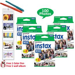 Fuji polaroid camera online shopping - For Fuji Instant Polaroid Photo Camera Fujifilm Instax Wide Film Prints Sheets White Frame Free Gifts