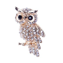 $enCountryForm.capitalKeyWord UK - Large Bird Owls Vintage Brooches Antiques Bouquet Owle Pin Up Designer Wedded Broach Scarf Clips Jewellerys accessories free ship 10pcs lot