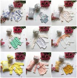 Crochet Baby Photo Set Australia - Dvotinst Newborn Photography Props Baby Knit Crochet Hat+outfits+pillow 3pcs Set Fotografia Accessories Studio Shoots Photo Prop J190517