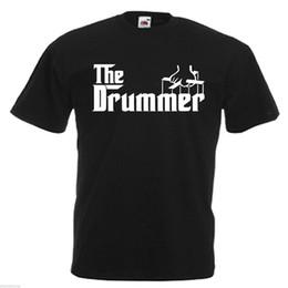 Venta al por mayor de Drummer Drum Adults Camiseta para hombre 12 colores Talla S - chaqueta 3XL camiseta de cuero de Croacia