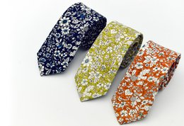 Chinese  Floral ties Fashion Cotton Paisley Ties For Men Corbatas Slim Suits Vestidos Necktie Party Ties Vintage Printed Gravatas 6CM manufacturers