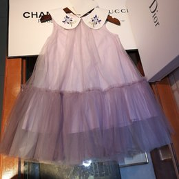 Fashion Trends Lace Dress Australia - Children suits clothing tutu latest summer fashion trend refreshing casual ultra-thin stripe breathable brand girls lace skirt dress