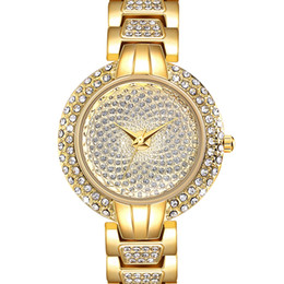 $enCountryForm.capitalKeyWord UK - Full Crystals Luxury Ladies Watch for Women 3 Hands Stones Dial Alloy Round Case Bracelet Christmas Gift free drop shipping